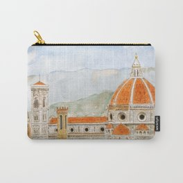 Italy Florence Cathedral Duomo watercolor painting Carry-All Pouch