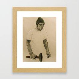 the blacksmith Framed Art Print