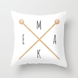 MAKE  |  Knitting Needles Throw Pillow