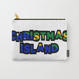 Christmas Island Font with Islander Flag Carry-All Pouch