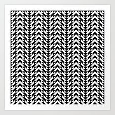 Geometric Chevrons Art Print