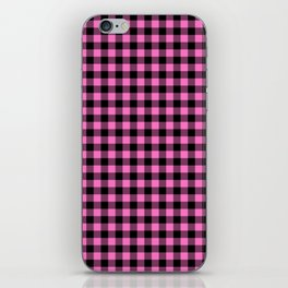 Classic Pink Country Cottage Summer Buffalo Plaid iPhone Skin