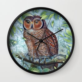 Forest Owl Wall Clock