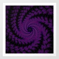 Purple Spiral Fractal Design Art Print