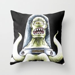 Kang from the Simpsons by Aaron Bir Throw Pillow