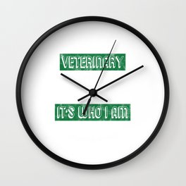 I Was Born To Be A Veterinary Nurse Vet Tech Animal Doctor Lovers Gifts Wall Clock