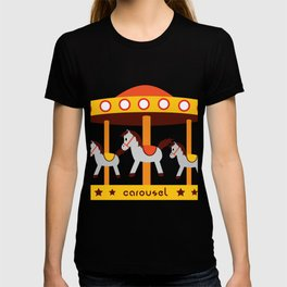 carousel amusement park T-shirt