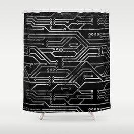Circuit, tech electronics Shower Curtain