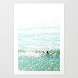 Lone Surfer in the Californian Sun Art Print
