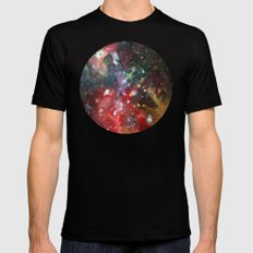 this is where we live MEDIUM Mens Fitted Tee Black