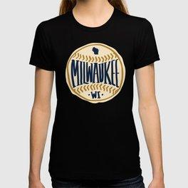 Milwaukee Wisconsin Hand Drawn Script Design T-shirt