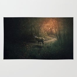majestic forest guardian Rug