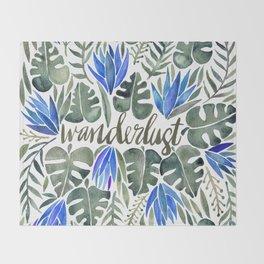 Tropical Wanderlust – Periwinkle Throw Blanket