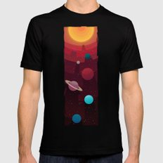Solar System Black X-LARGE Mens Fitted Tee