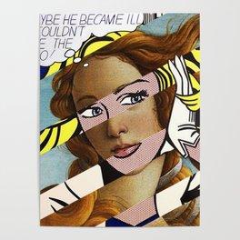 Botticelli's Venus & Roy Lichtenstein's M...Maybe Poster
