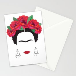 Frida eyebrowns Stationery Cards
