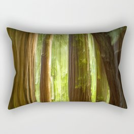 Redwood Abstract Rectangular Pillow
