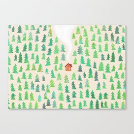 Alone in the woods Canvas Print