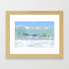 Pastel Wave Framed Art Print