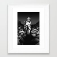 silence of the lambs Framed Art Prints featuring Silence of the Lambs by Ash Merkel
