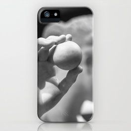 Roman Statue Holding Ball iPhone Case