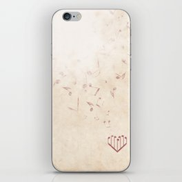 Music Heart old paper iPhone Skin