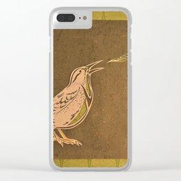 Meadowlark Clear iPhone Case