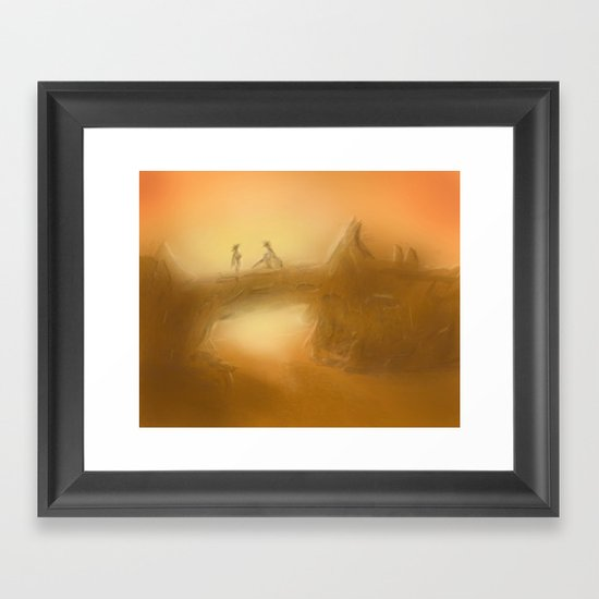 duel at dusk Framed Art Print