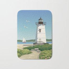 Martha's Vineyard Edgartown Lighthouse Bath Mat