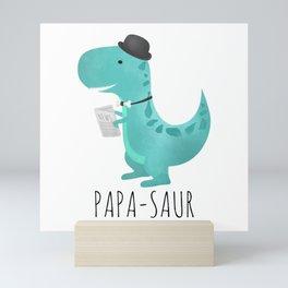 Papa-saur Mini Art Print