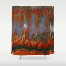 Christmas Tree Plume Agate Shower Curtain