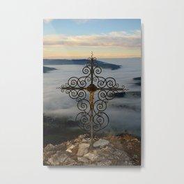 Wrought Iron Cross on Blassenstein Mountain, Austria Metal Print