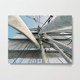 Looking Up the Sails Metal Print