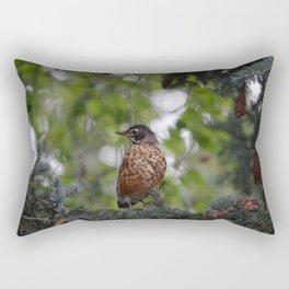 Backyard Visitor ~ II Rectangular Pillow