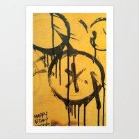 Stall wall - grunge texture Art Print