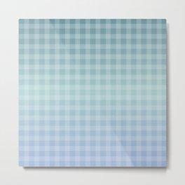 Checkered gingham stripes Metal Print