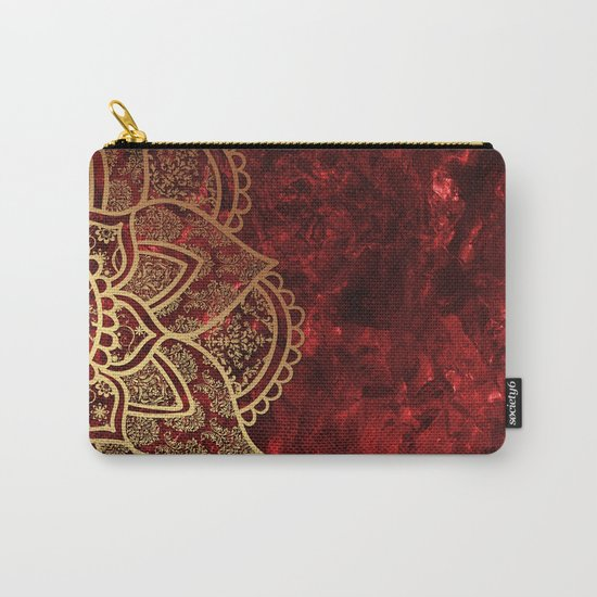 Mandala - Ruby Carry-All Pouch