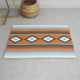 Modern Mexican Serape in Technicolor Rug