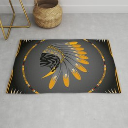 Honor and Strength Yellow Rug