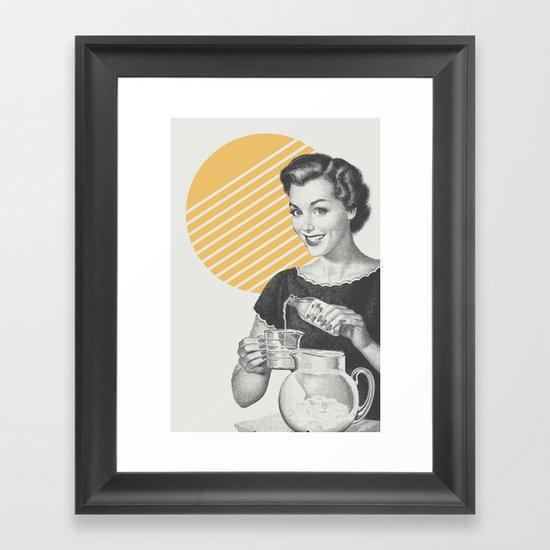 When Life Hands You Lemon Juice Concentrate -- Make Lemonade. Framed Art Print