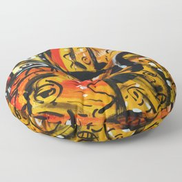The third eye expressionist art Floor Pillow
