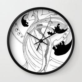 Alphonse Mucha's Mermaid Wall Clock