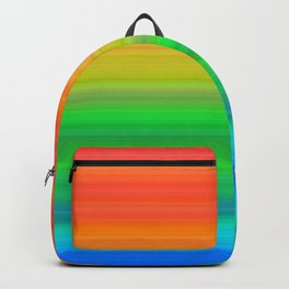 Bright Rainbow Stripes Backpack