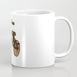 Nature Bicycle | Wooden Earth Day Illustration Coffee Mug