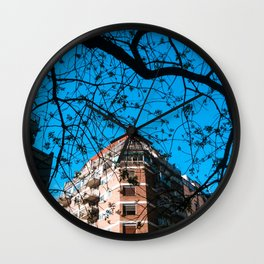 Contruction and Tree Wall Clock