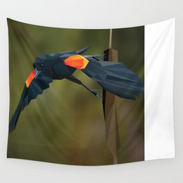 Polygon Redwing Blackbird Wall Tapestry