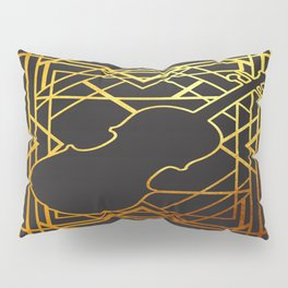 Art Deco Violin Pillow Sham