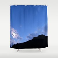 night sky Shower Curtains featuring Night sky by Iridescentmind