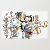 shingeki no kyojin Area & Throw Rugs featuring OriSor Shingeki No Kyojin Royal Fanart  Attack on Titan by Mistiqarts by Mistiqarts