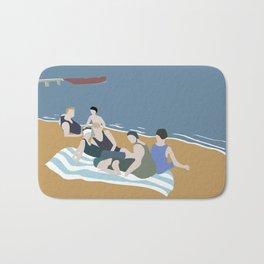 Vintage bathers Bath Mat